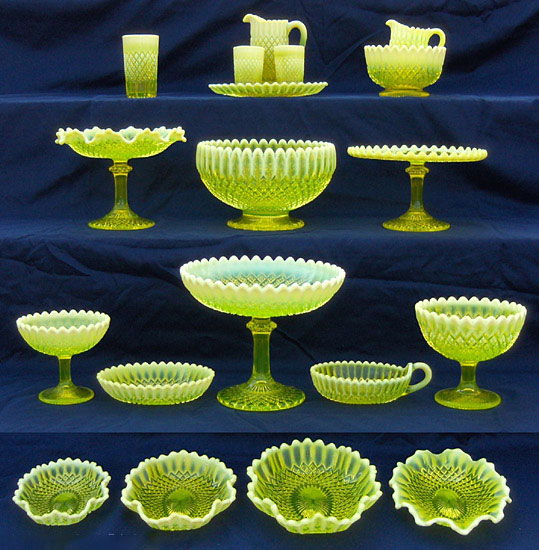 Uranium Glass AntiqueQuery Best Vaseline Glass Pattern Identification